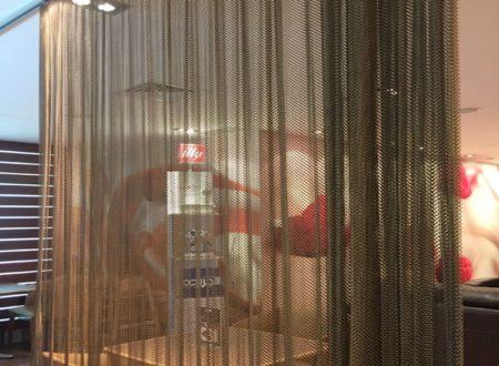 Металлическая штора из сетки, цвет бронза