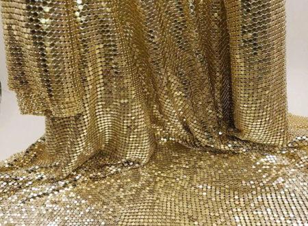 Металлическая ткань, золото
