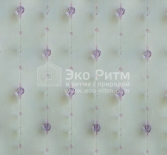 сиреневые шторы из бусин