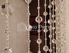 Перегородка из кристаллов бусин