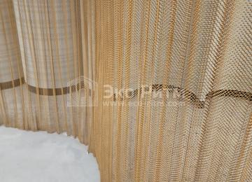 Декоративные металлические шторы из сетки