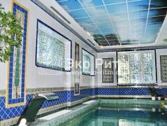 Шторы со стеклярусом в бассейн