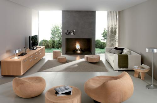 Современный эко стиль интерьера в помещение