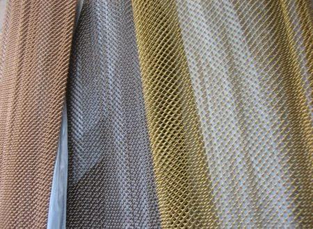 Варианты декоративных сеток из алюминия