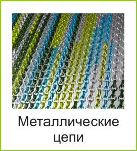 Металлические шторы из цепи