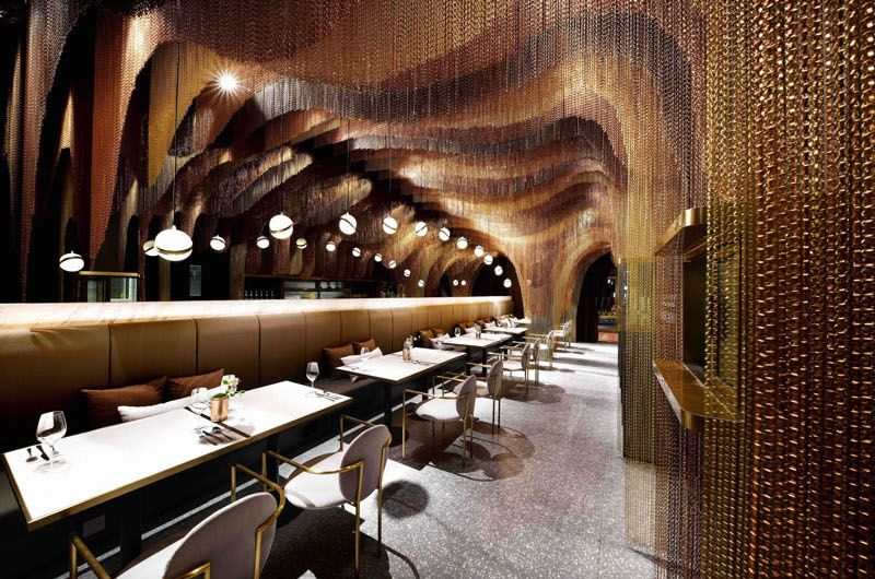Красивый дизайн ресторана