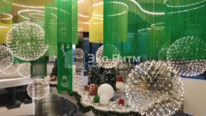 Декоративное освещение в высоких помещениях